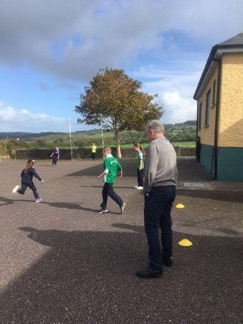 Togher NS Dunmanway children show soccer skills