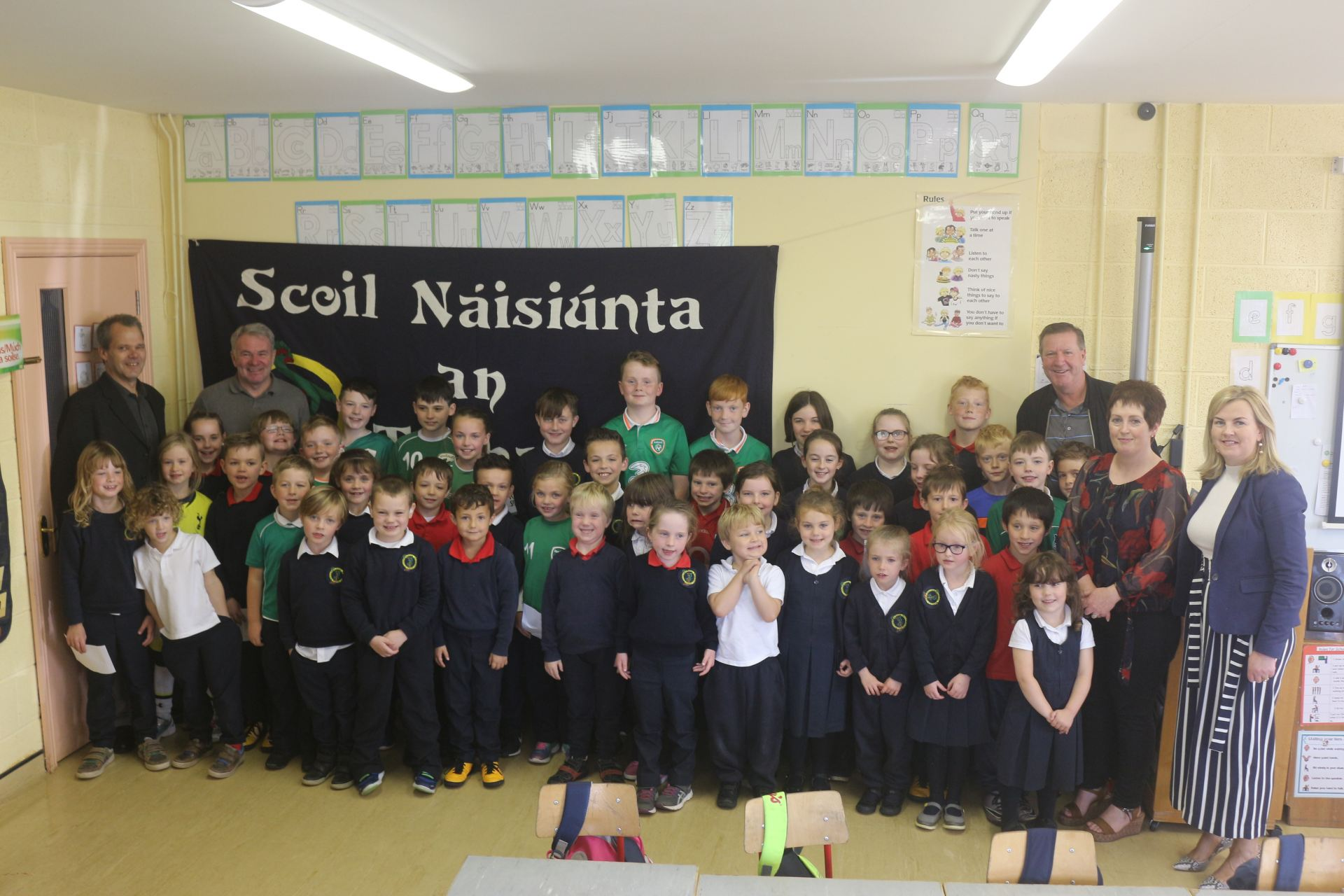 Ronnie Whelan and Ray Houghton at Togher NS