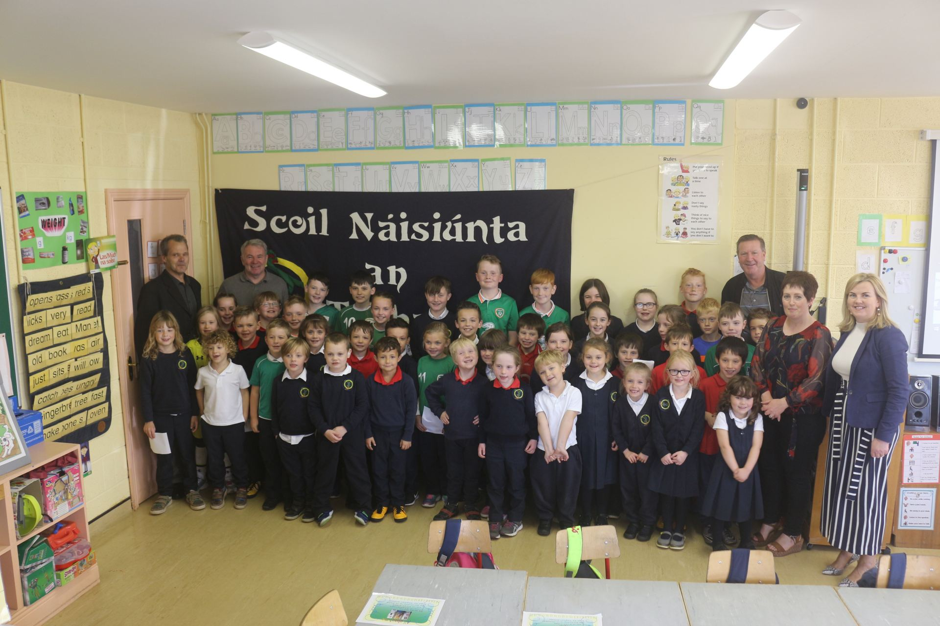 Ray Houghton and Ronnie Whelan at Togher NS